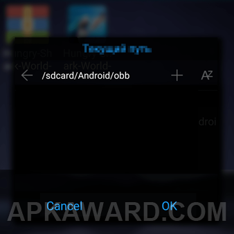 How to set APK OBB?